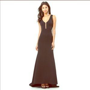 Bebe dress deep v mermaid formal gown Large