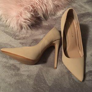 """Tan stilettos 4.5"""" heel"""