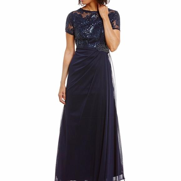 bdf7765d5af8c Alex Evenings Embellished Ruched A-Line Gown