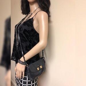 Auth CHLOE Lily 2Way Shoulder Bag Leather Black