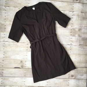 J. Crew Brown Mini Cotton Dress Safari Style