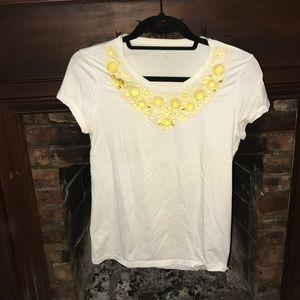 kate spade new york t shirt with jeweled bib