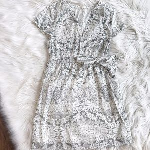 Tulle Lace Print Dress