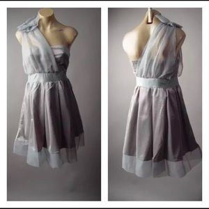 🎄 New Grey Taupe One Shoulder Holidays Dress🎄