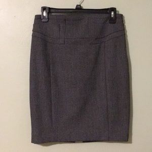 Charcoal Pencil Skirt from Express // Size 2