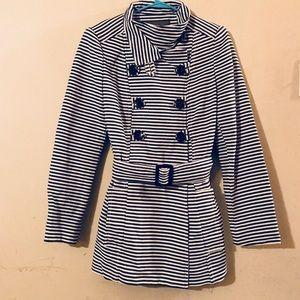 ZARA Striped pea coat