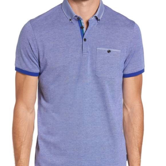 21f38f90a0c Ted Baker Leeds Oxford Modern Slim Fit Polo