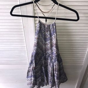 Urban Outfitters Ecote Paisley Print Halter Dress