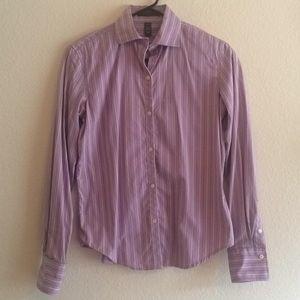 Ralph Lauren Lavender Striped Button Down Shirt