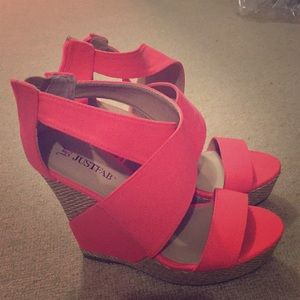 Hot pink party shoe