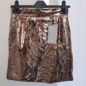 Zara sequin skirt nwt