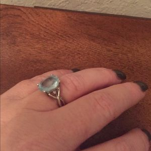 Jewelry - Aqua marine ring.  Perfect condition and real