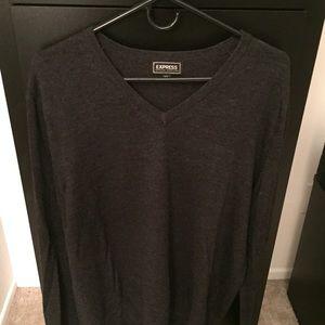 Express Merino Wool Sweater Charcoal Gray L