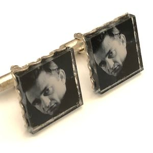 Other - Johnny Cash - the Man in Black Cuff Links