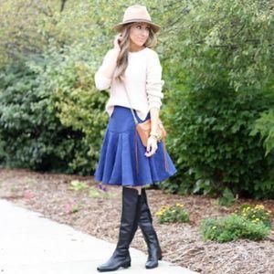 ASOS Texture Midi Full Skirt with Pleated Peplum 6