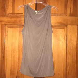Cute taupe sleeveless top!