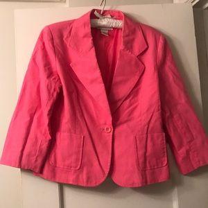 Vintage pink linen blazer