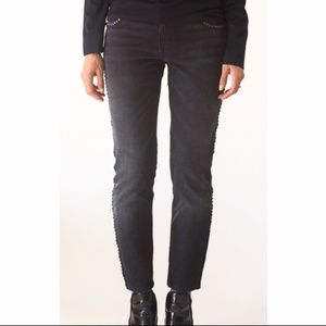 Current Elliott Crop Skinny jeans with studs