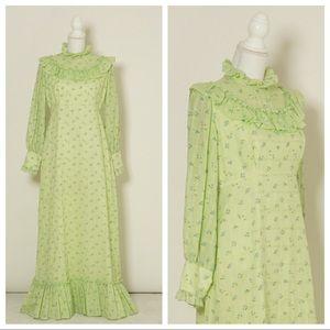70s prairie maxi gown