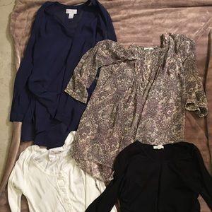 Tops - 4 maternity shirts