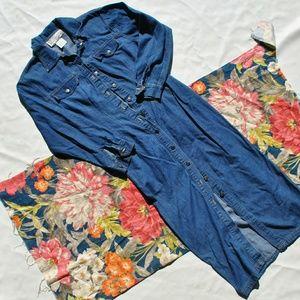 Vintage Blue Jean Dress/Duster