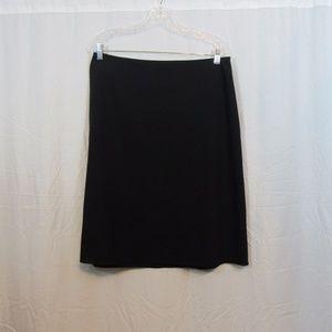 Banana Republic Black Solid Wool Skirt 14S