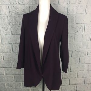 Calvin Klein Purple Draped Career Blazer Jacket