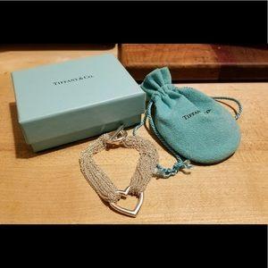 Tiffany&Co. Silver Open Heart Toggle Bracelet