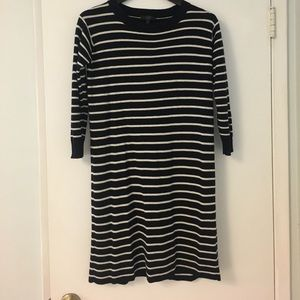 J.Crew Navy and White Striped Dress
