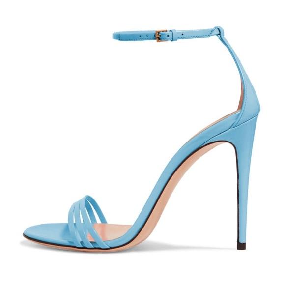 Baby Blue Strappy Sandals | Poshmark