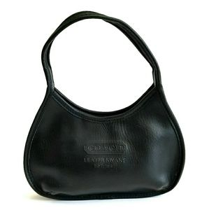 Black vintage leather mini ergo