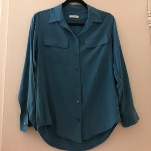 Equipment Blue Button Down