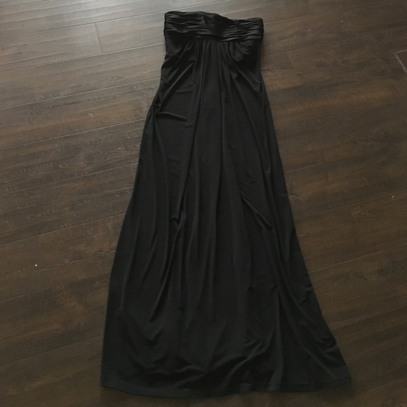 Davids Bridal Dresses Davids Bridal Black Strapless Bridesmaid