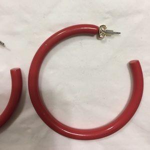 Zara Orange/Red aluminum hoop earrings