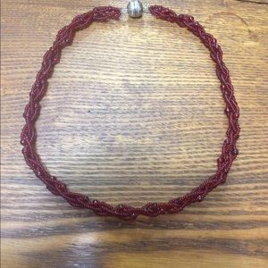 Jewelry - Beautiful Red Beaded Necklace