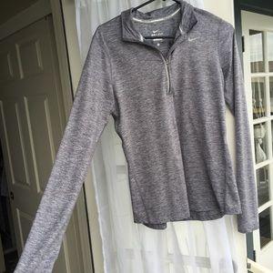 Nike dri-fit half zipper long sleeve