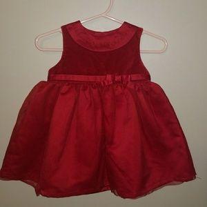 Red baby girl dress