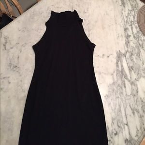 American Apparel black sleeveless turtleneck dress