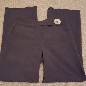 Dark gray Larry Levine dress pants.