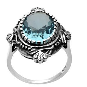 Jewelry - 925 Sterling Silver Aquamarine Ring Size 6
