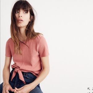 Madewell Modern Tie-Front Tee