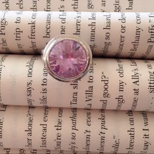 Jewelry - Vintage Purple Sparkly Stone Silver Ring