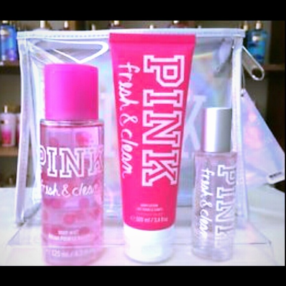 1388af4818a82 Nwt Victorias secret pink fresh & clean gift set NWT
