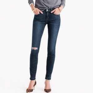 •J. Crew• Destroyed Toothpick Ankle Jeans