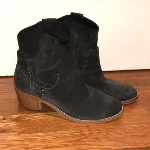 Dolce Vita Dark Grey Suede Short Boot