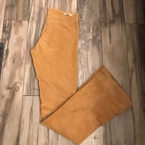 Anthropologie high rise corduroy flares