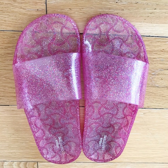 Urban Outfitters Jelly Glitter Slides