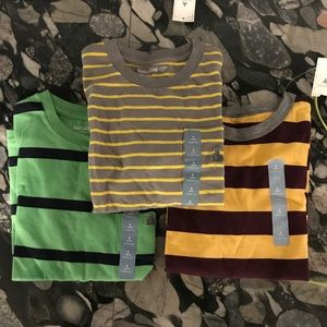 NWT Bundle of 3 Gap T Shirts Striped Boys 5T
