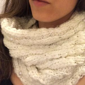 Ann Taylor - Cowl Scarf with Pearls