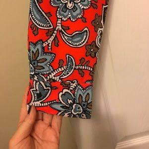 LOFT Dresses - Loft Printed Tie Waist Dress